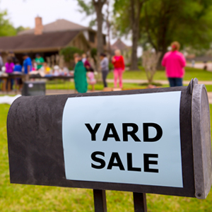 A Yard Sale Sign